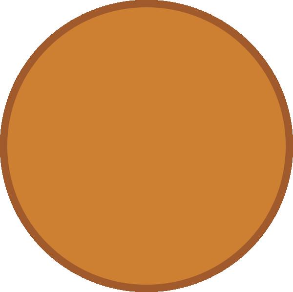 Circle clipart circle shape. Bronze clip art at