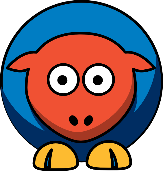 Sheep oklahoma thunder team. Circle clipart city