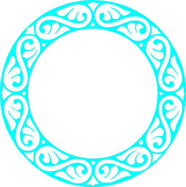 Turquoise frame at clker. Circle clipart clip art