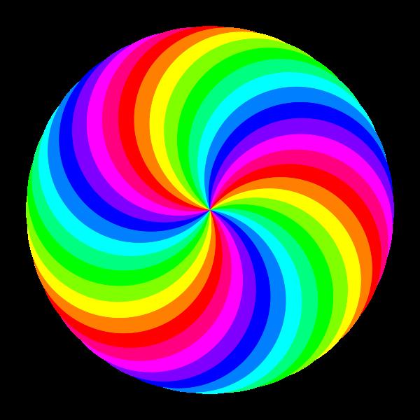 Circle clipart colored.  swirl color clip
