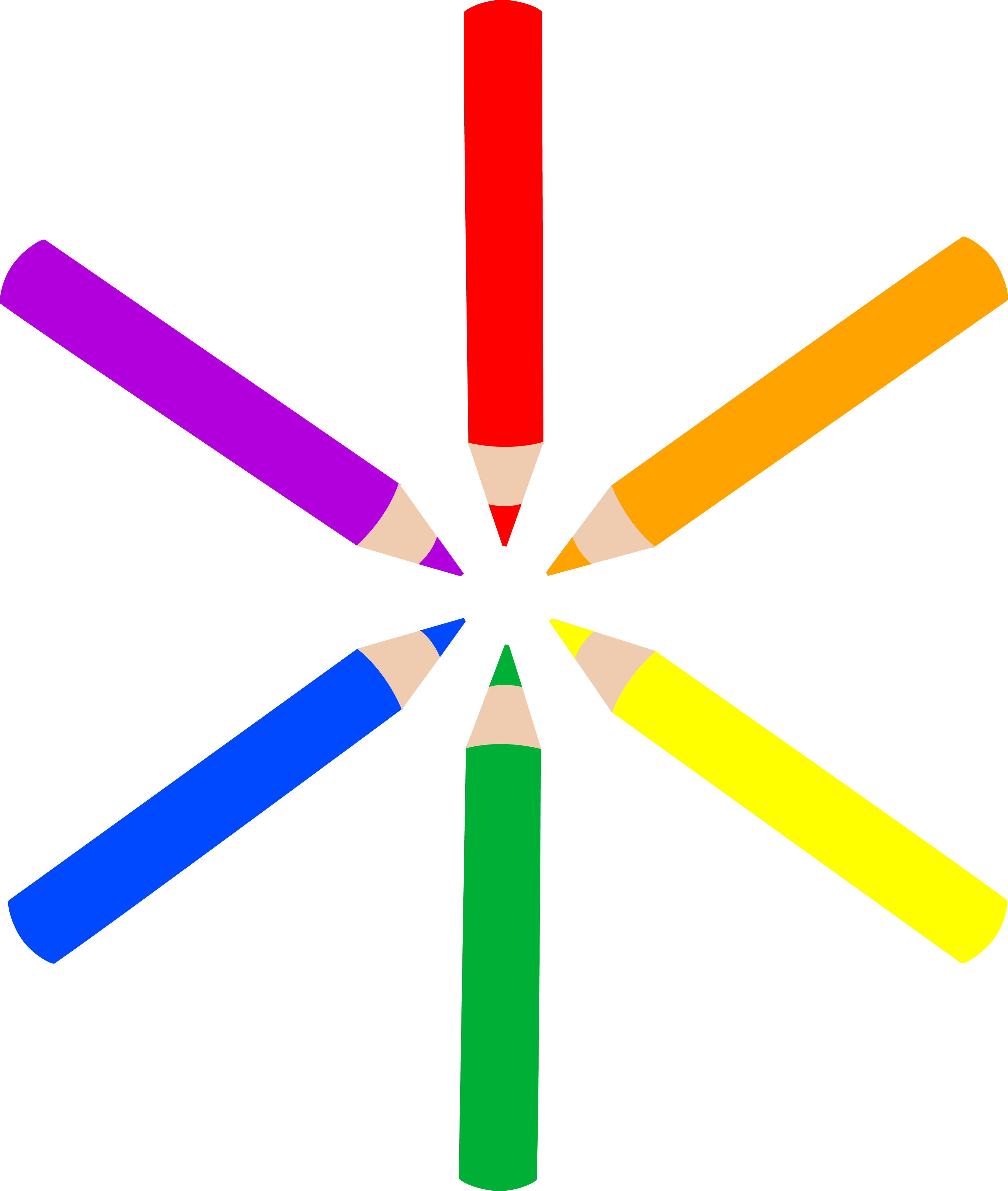 Circle clipart colored. Pattern of mini pencils