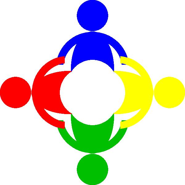 Multi color clip art. Circle clipart community