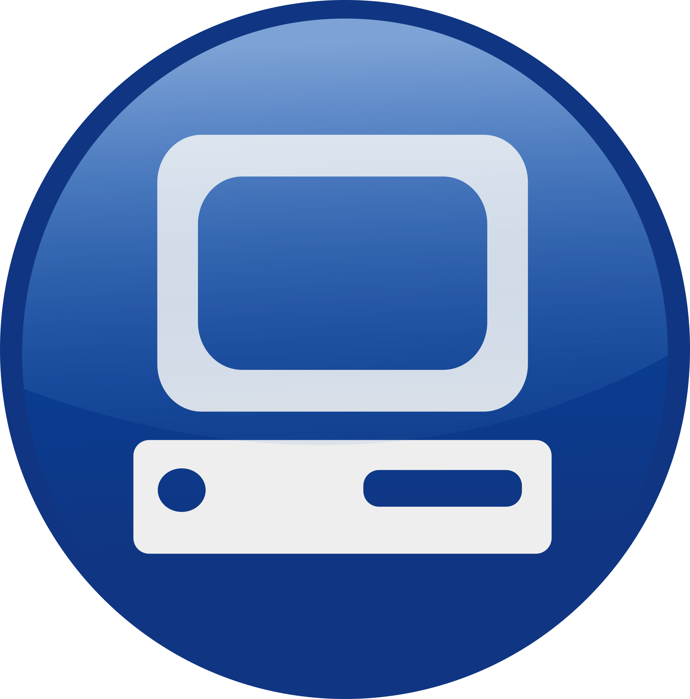 Pc blue big image. Circle clipart computer