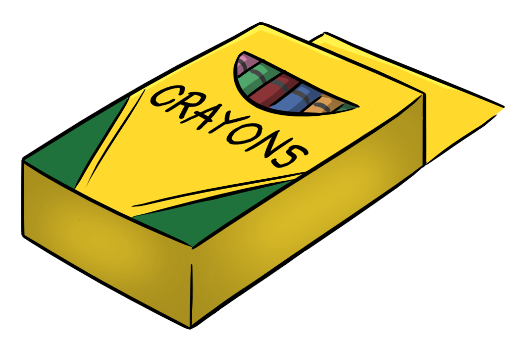 Crayon box free images. Clipart pencil four