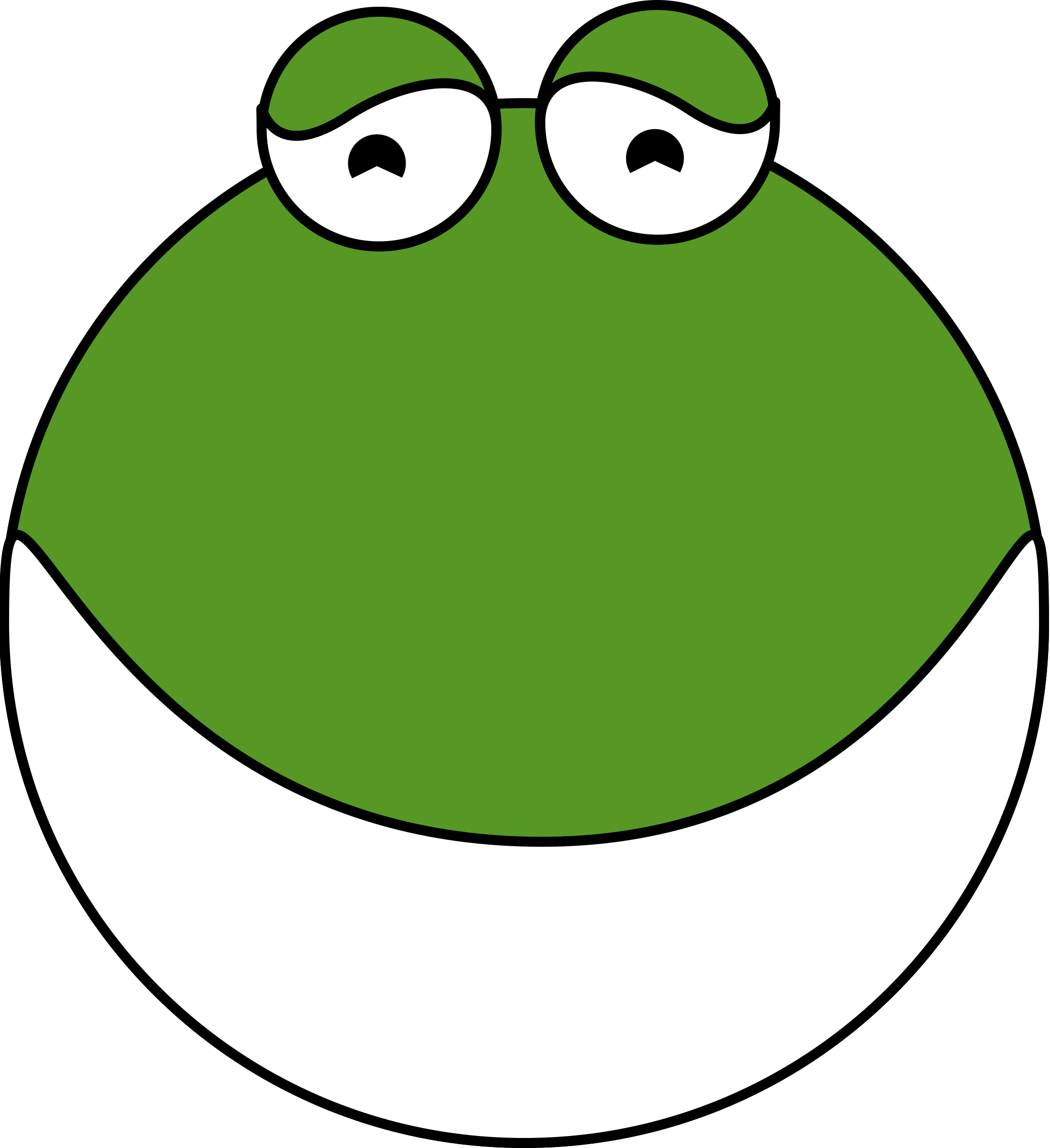 Mouth clipart eating. Cute frog head big
