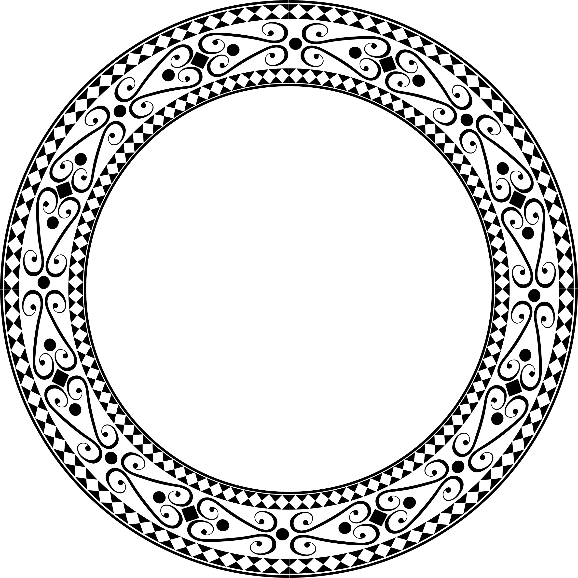 Round frame png. Clipart decorative ornamental large