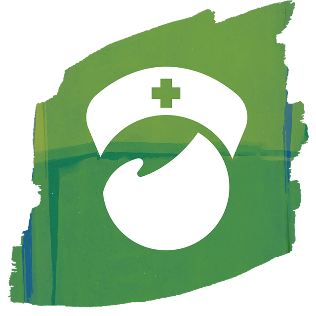 Nurse doctor icon assistant. Hear clipart vector
