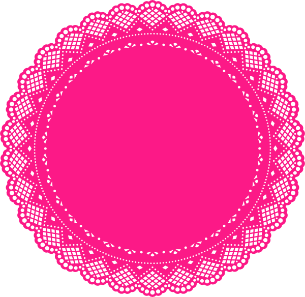 Fucsia clip art at. Circle clipart doily