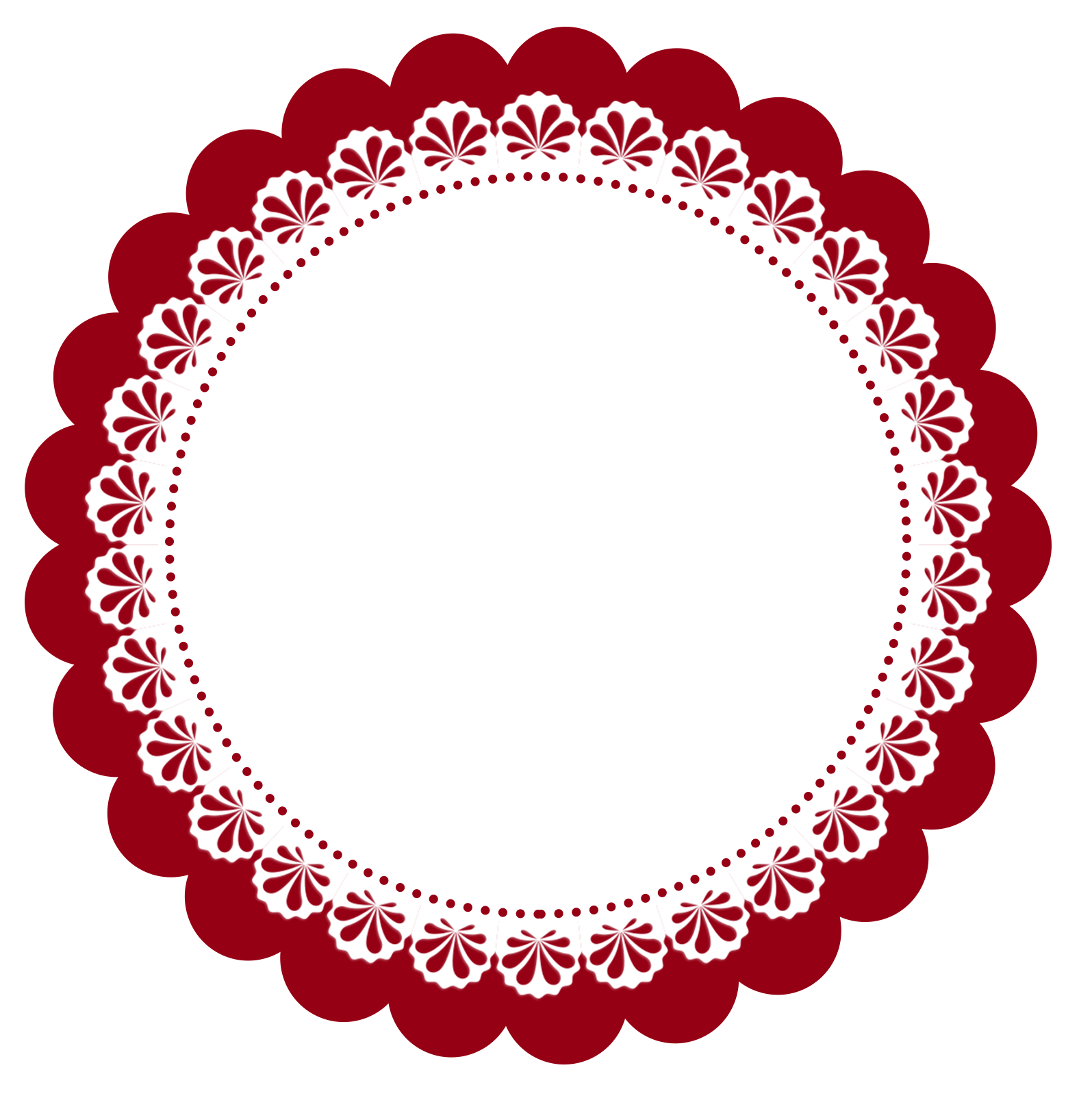 Circle clipart doily. Escalopes em png gr