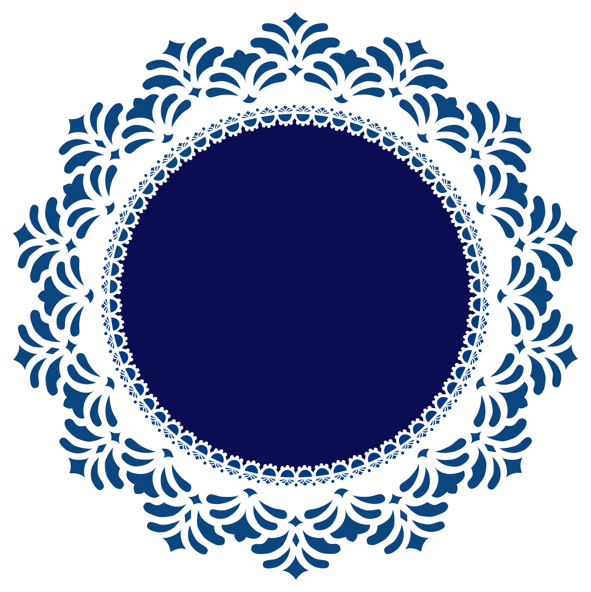 Circle clipart doily. Lace clip art blue