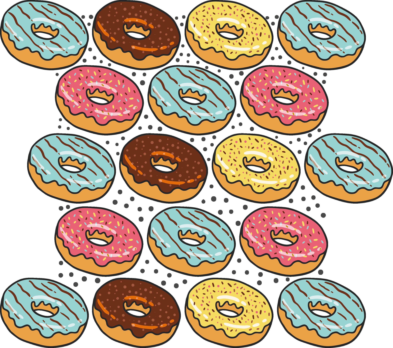 Bread poster clip art. Donuts clipart circle