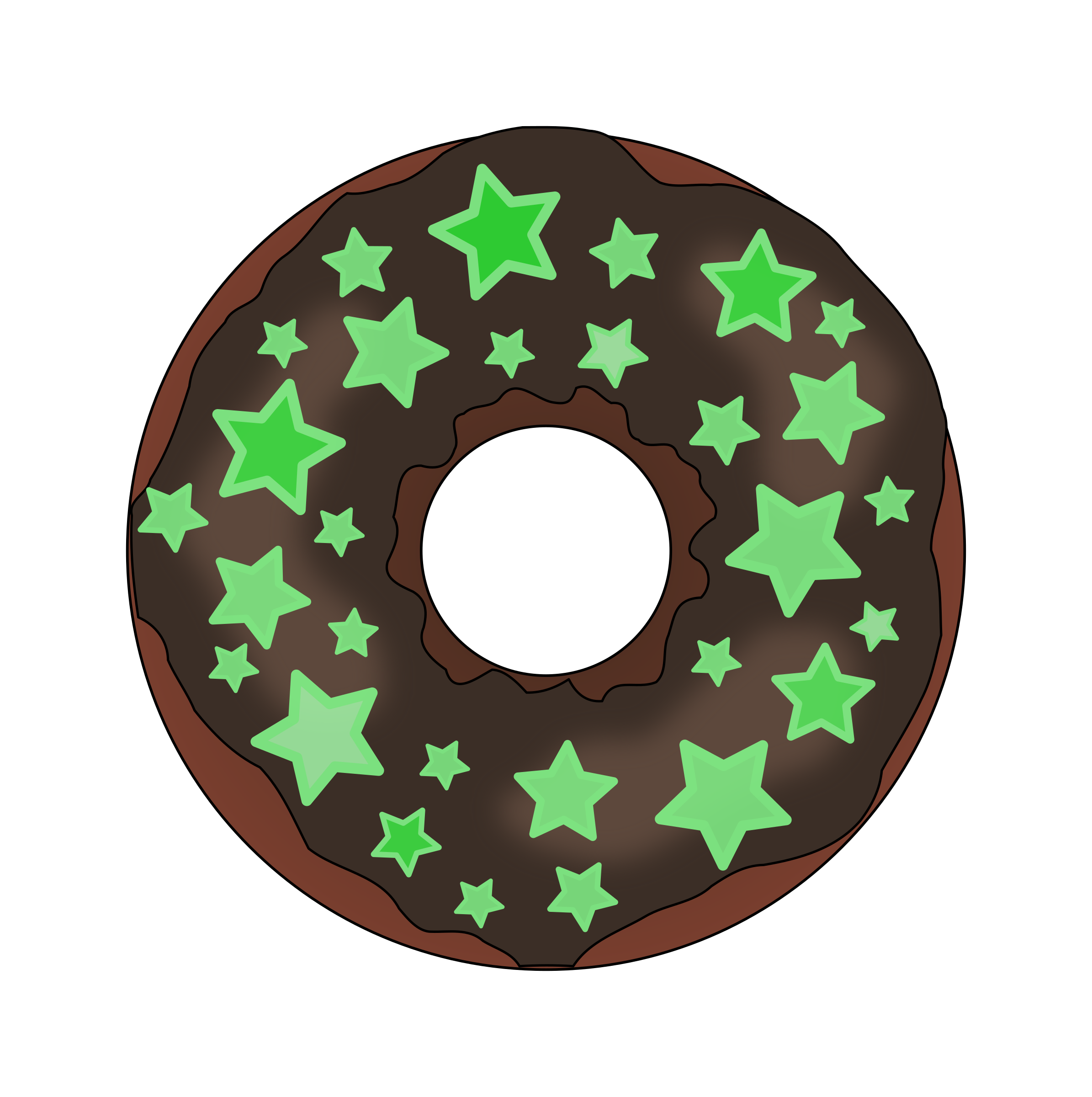 Glow in the dark. Desserts clipart donut