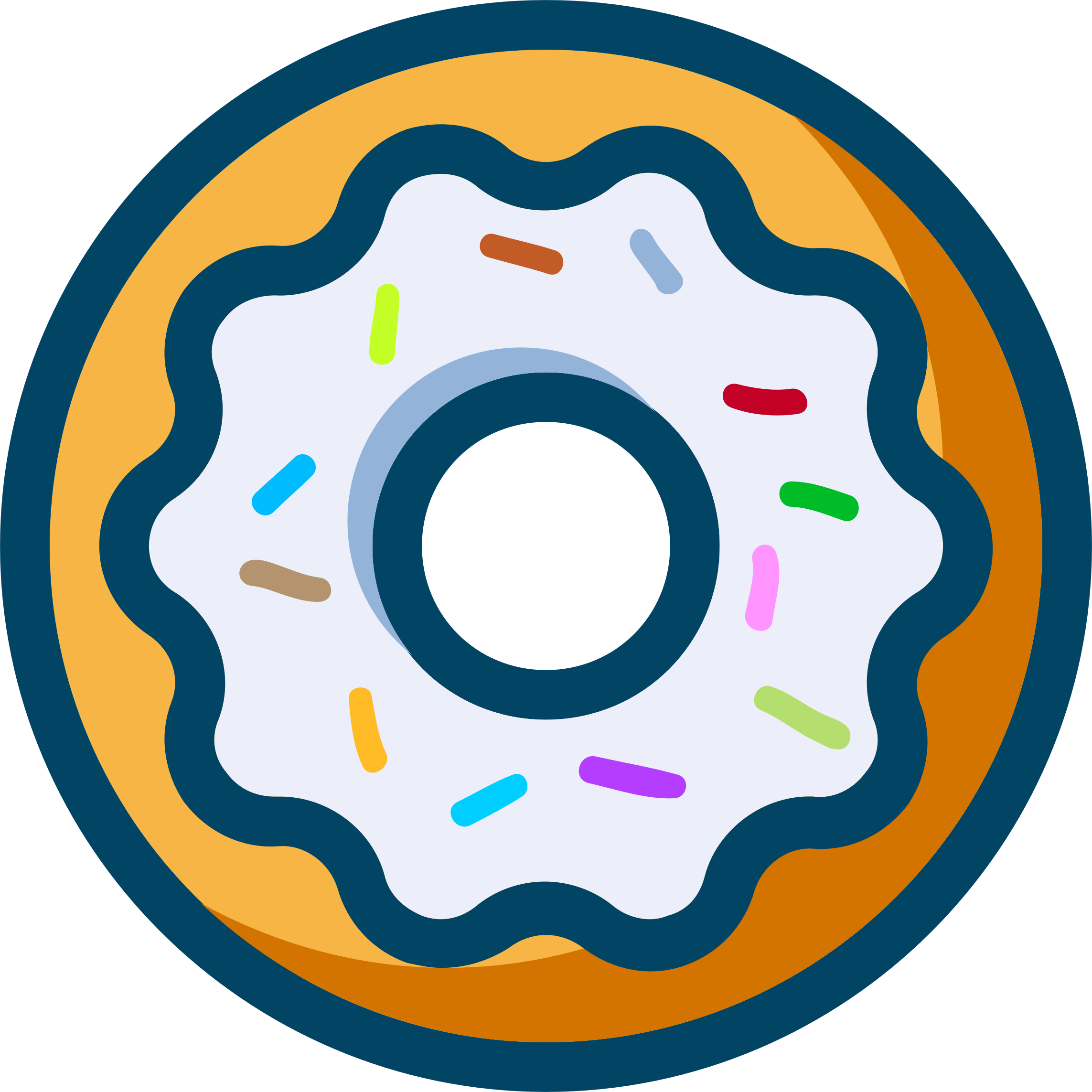 Doughnut clipart blue. Donut with sprinkles big