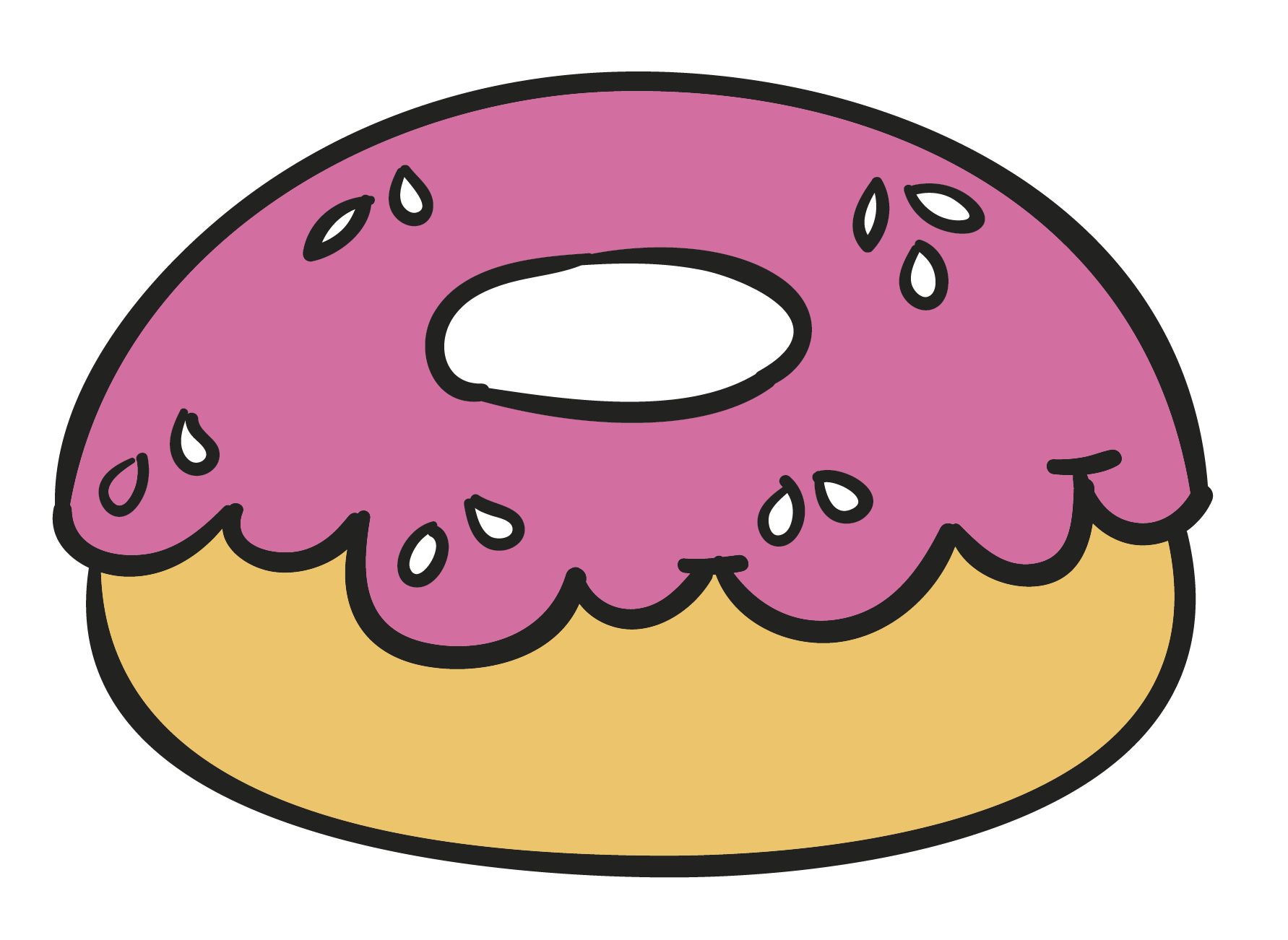 Doughnut cartoon clip art. Donut clipart juice