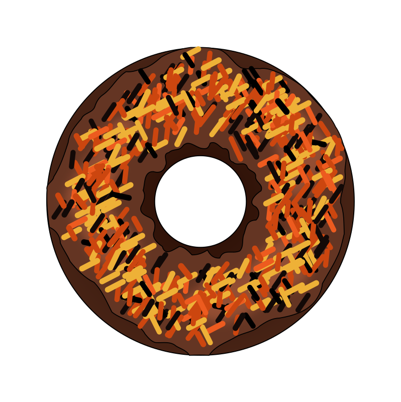 Fall or medium image. Halloween clipart donut