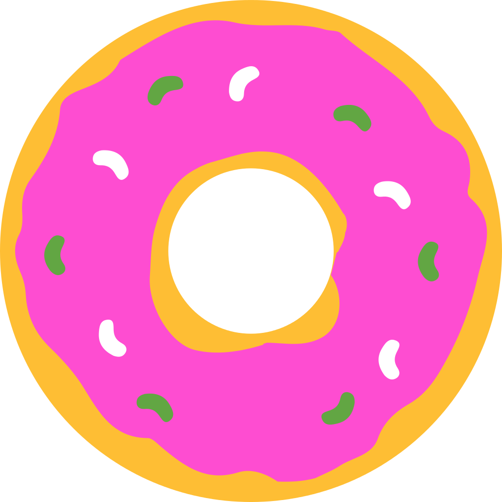 Donuts clipart free public domain. File simpsons donut svg