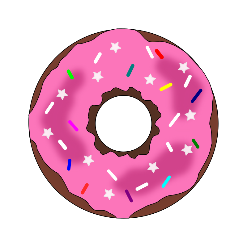 Stars and sprinkles medium. Donut clipart frosted
