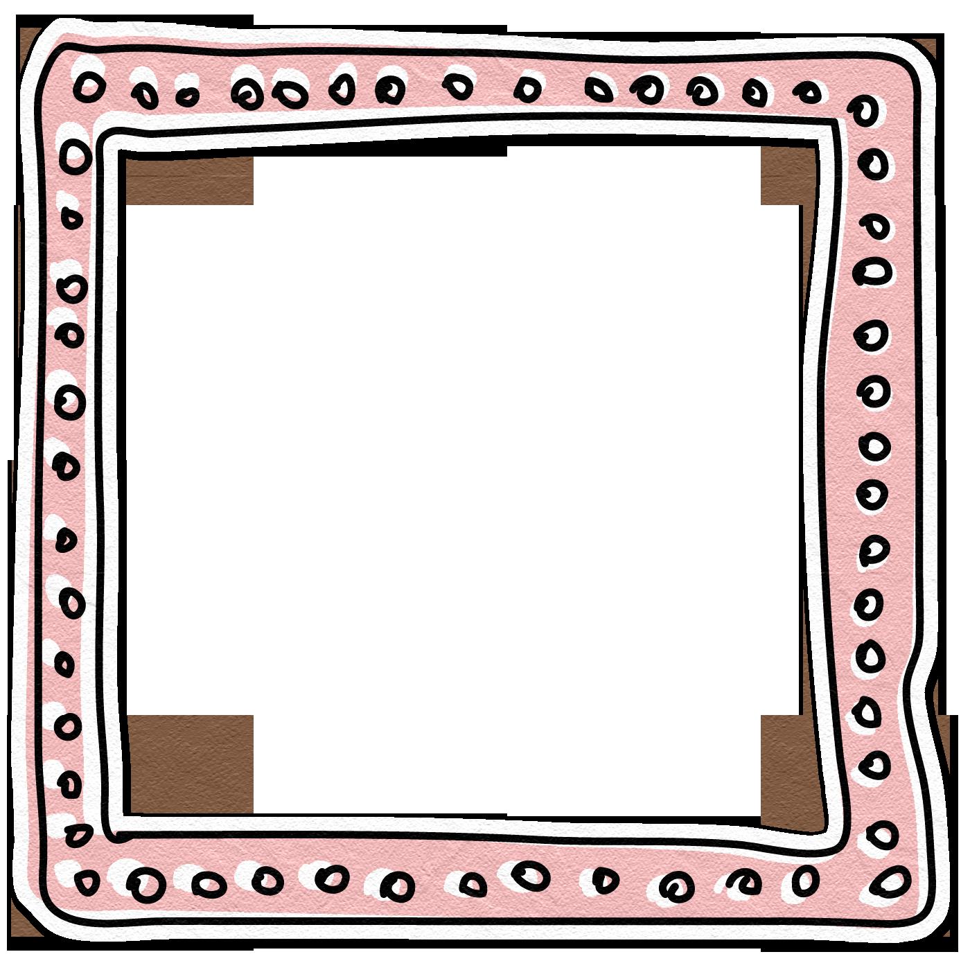 Picture frames clip art. Doodle border png
