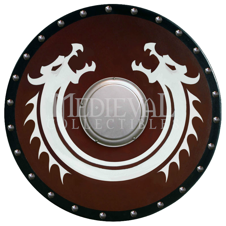 Clipart shield circle. Round viking dragon with