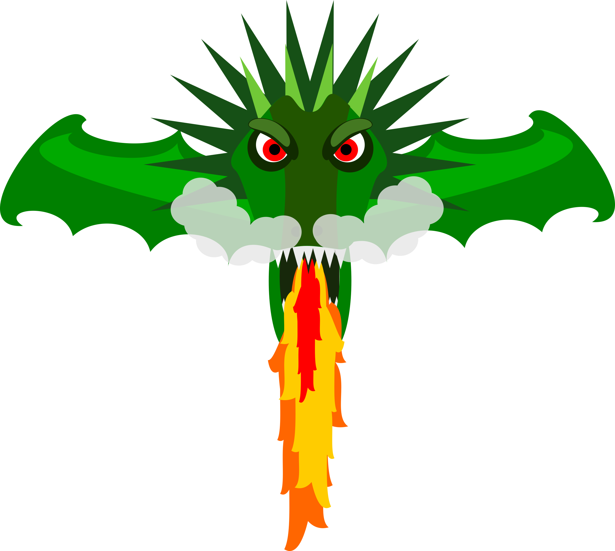 Wing clipart animated. Dragon head at getdrawings