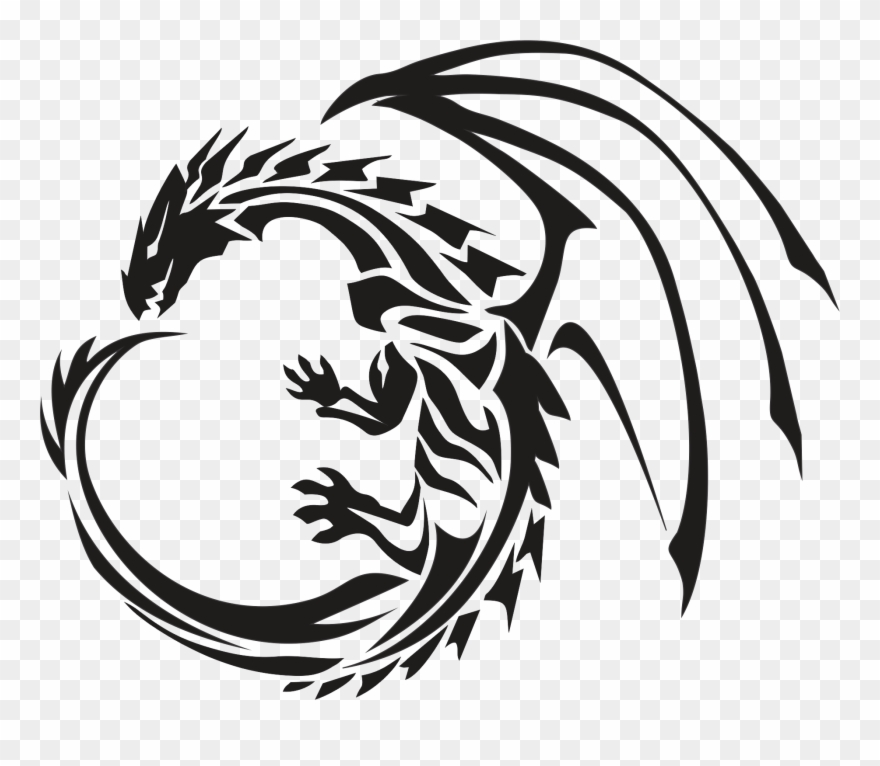 Circle tattoo transparent png. Dragon clipart dragon symbol