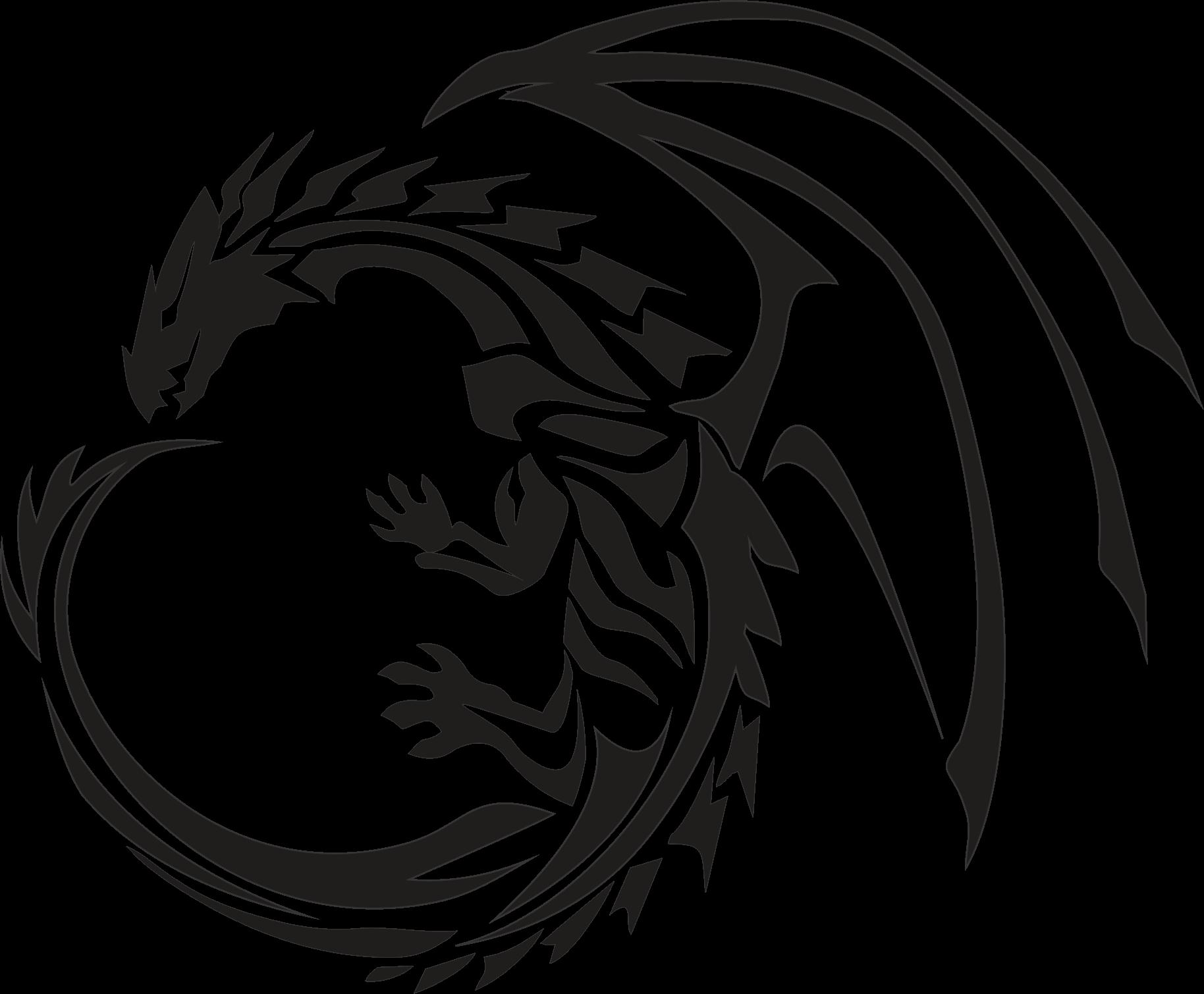 Tattoo transparent png stickpng. Circle clipart dragon