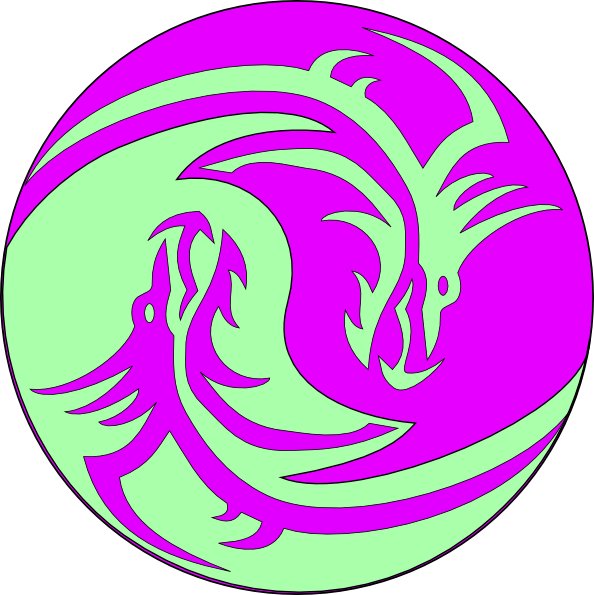 Dragon clipart purple dragon. Green dragons clip art