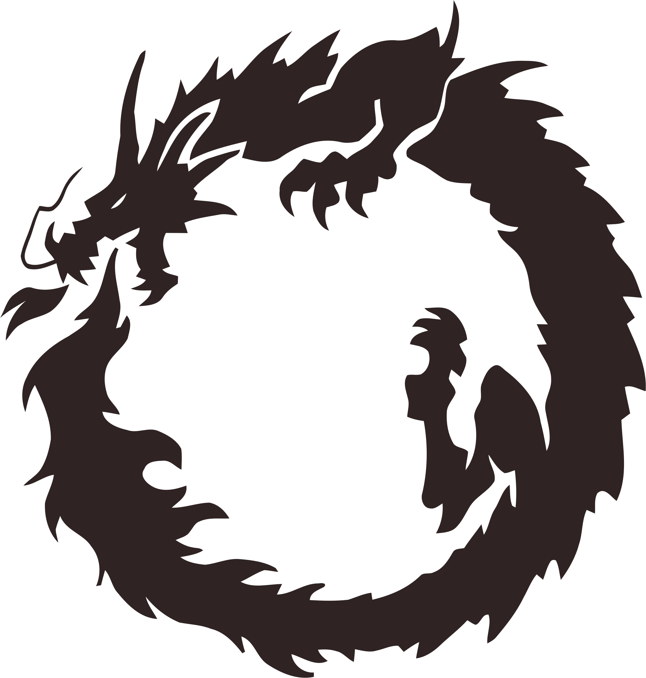 Tribal big image png. Circle clipart dragon
