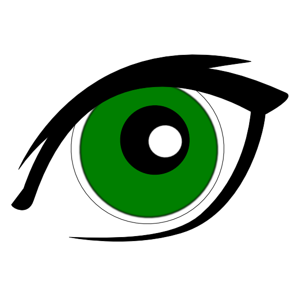 Green eyes clip art. Picture clipart eye