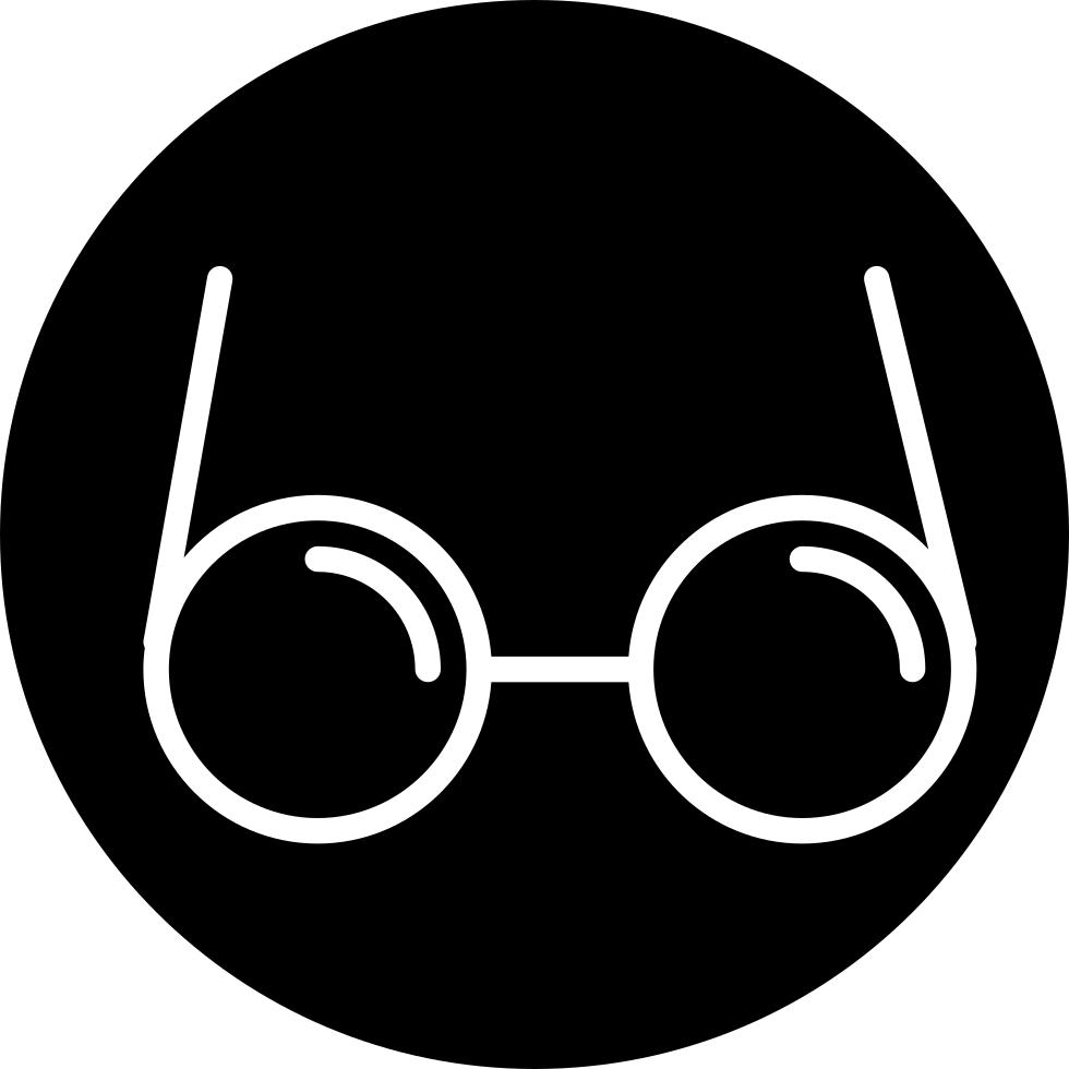 Circle clipart eyeglasses, Circle eyeglasses Transparent