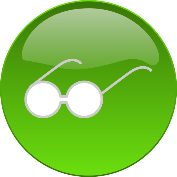 Nose clipart spectacles. Eye glasses button clip