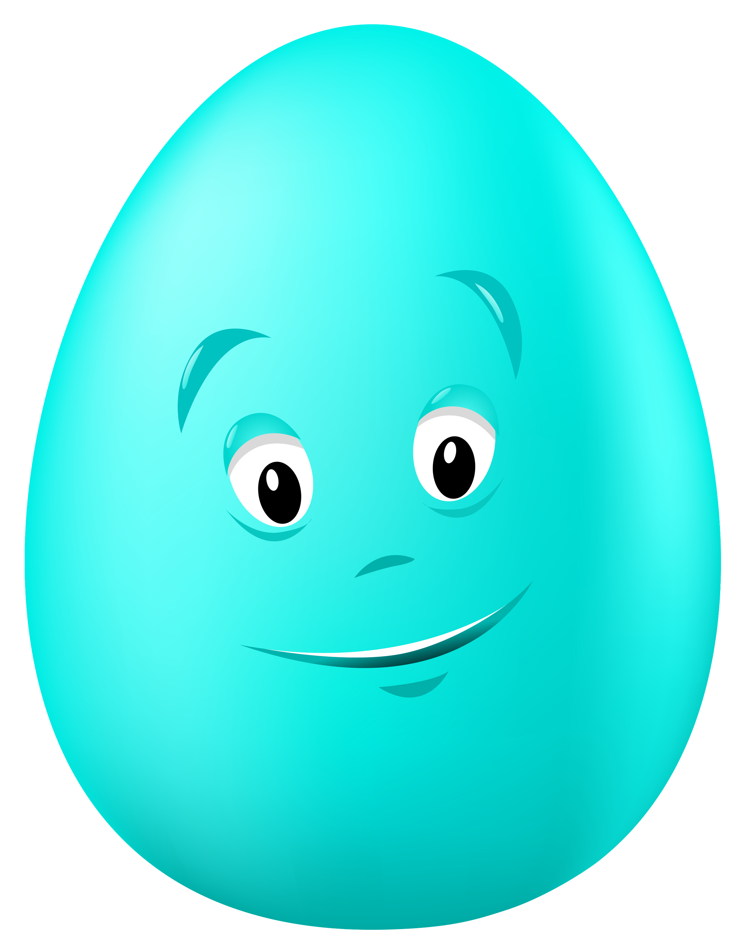 Transparent easter blue egg. Circle clipart face