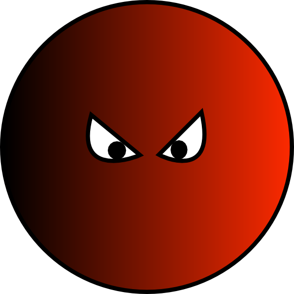 Evil clip art at. Circle clipart face