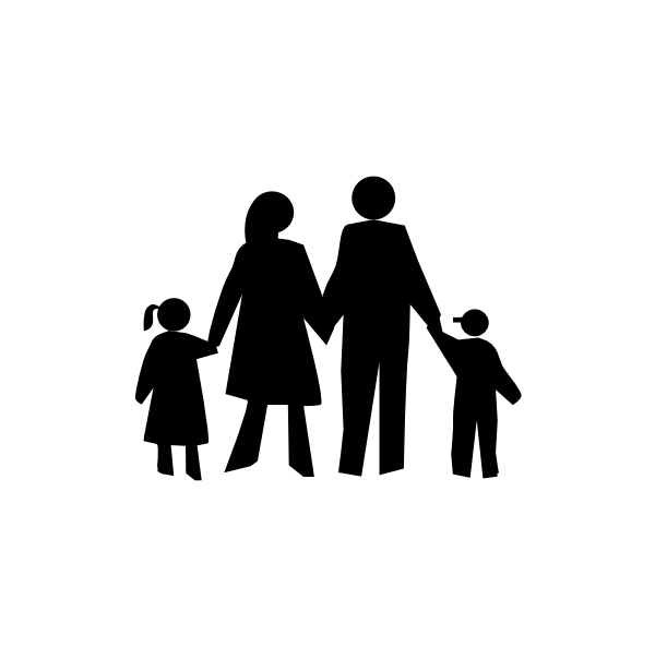 In black clip art. Circle clipart family