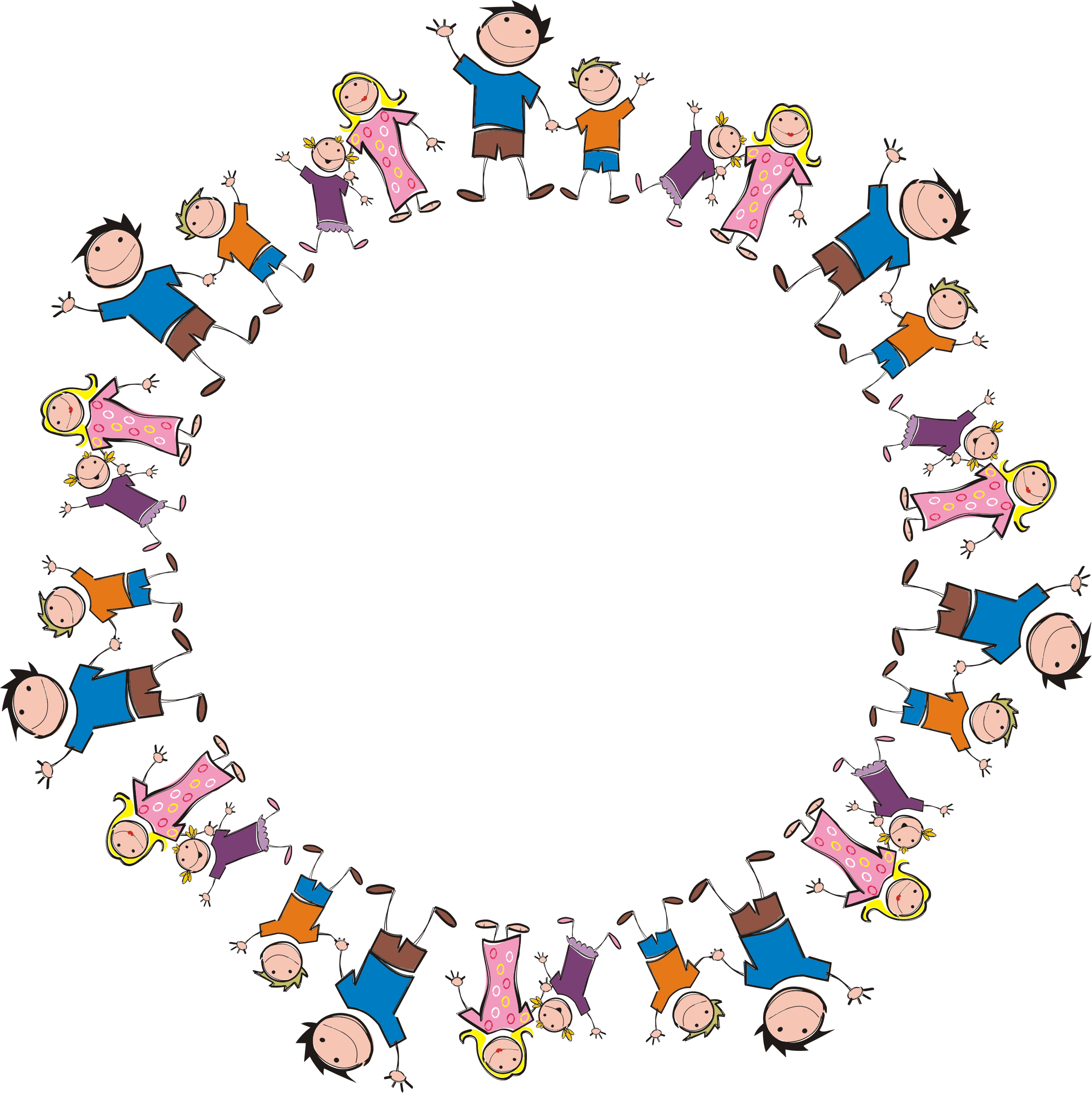 Clipart family stick figure. Circle big image png
