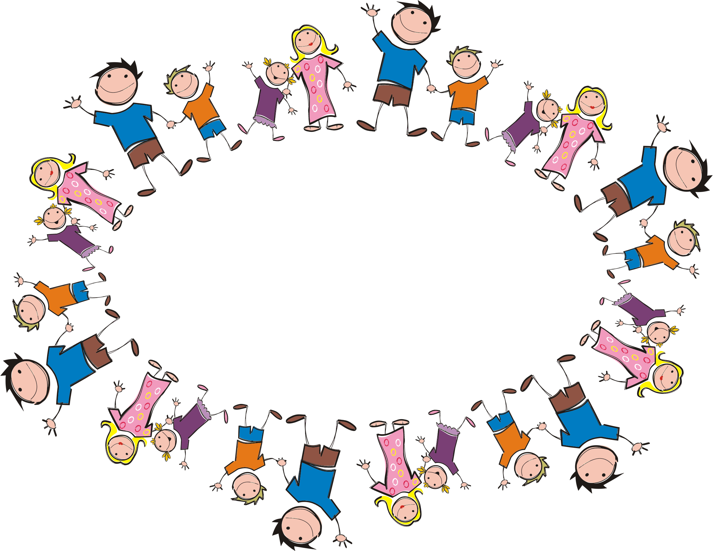 Stick figure ellipse icons. Clipart family togetherness