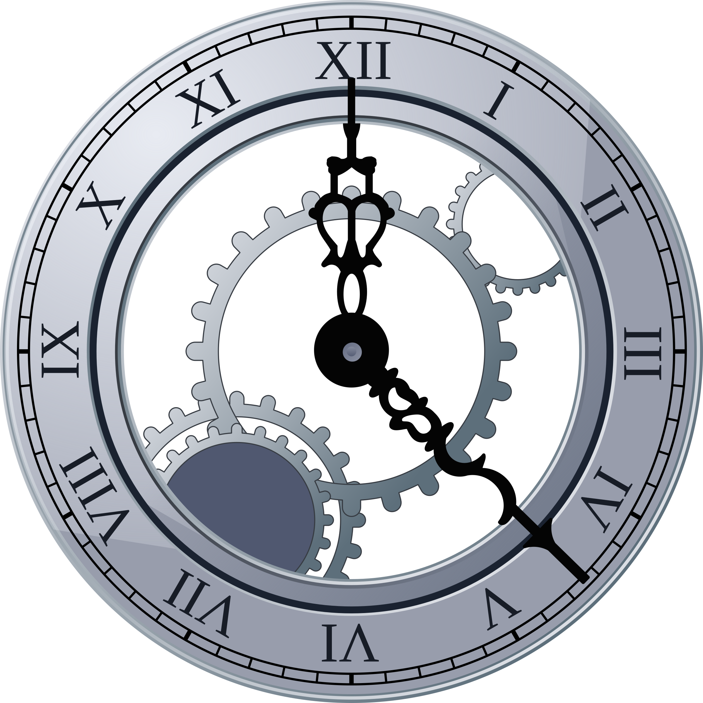 Clocks clipart frame. Roman clock by miga