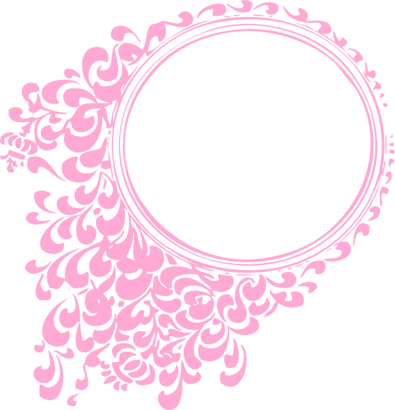 Paisley clipart boarder. Pink oval frame hi