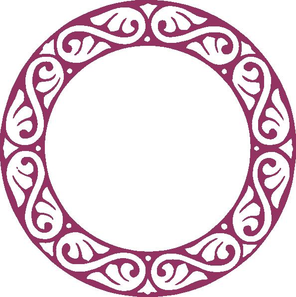 Design clipart border. Scroll circle clip art