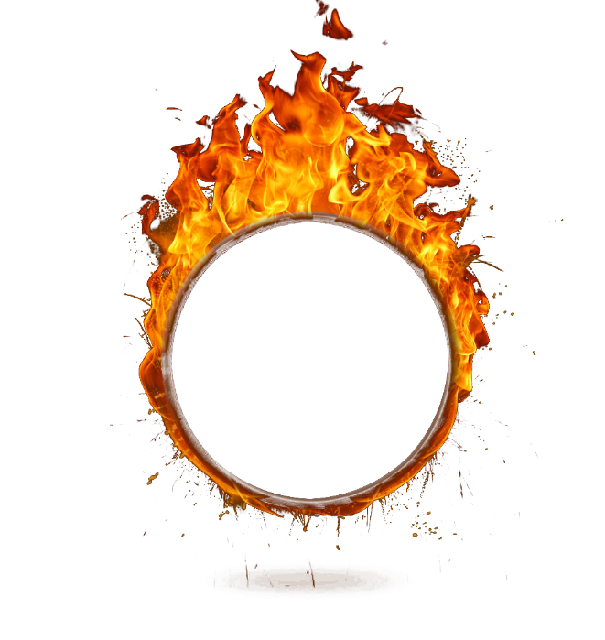Circle clipart fire. Ring ftestickers