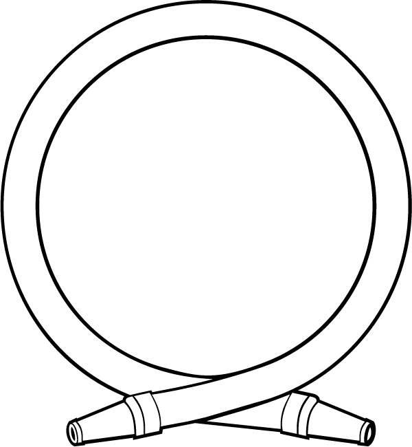 Hose decal . Circle clipart fire