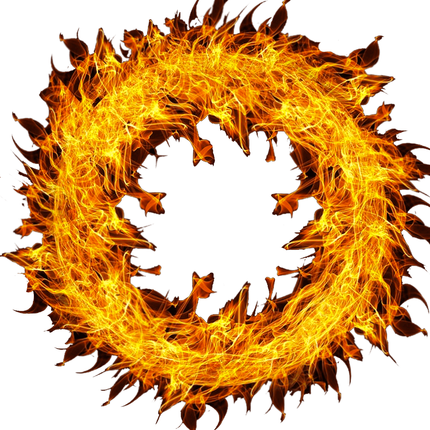 Flames clipart frame. Wheel of fire transparent