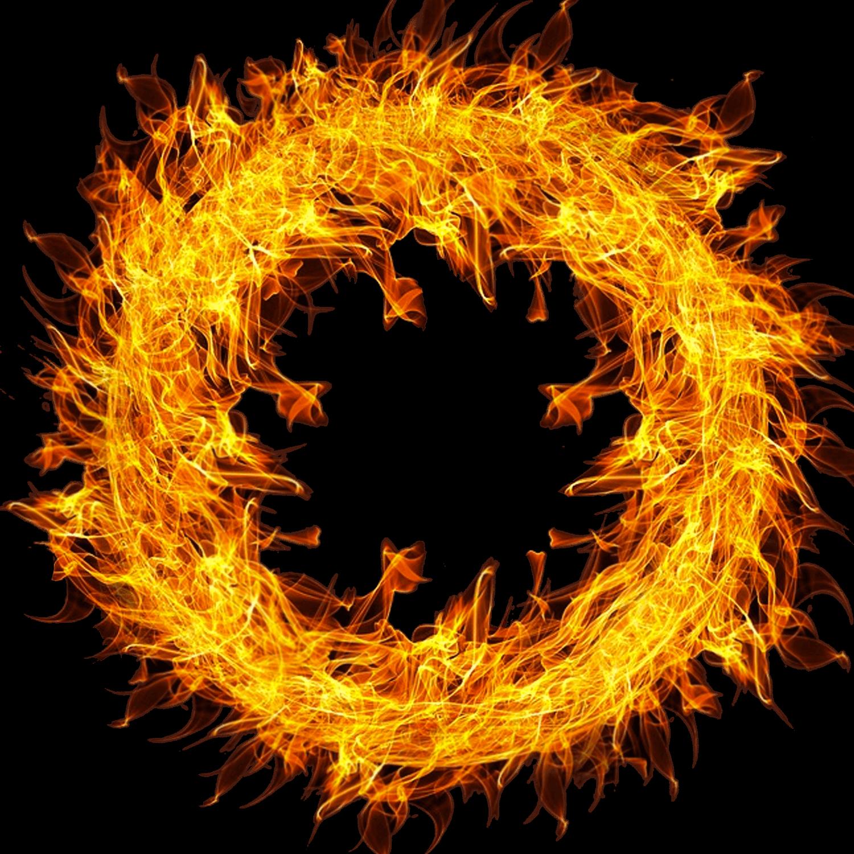 Fire frame png. Wheel of transparent stickpng