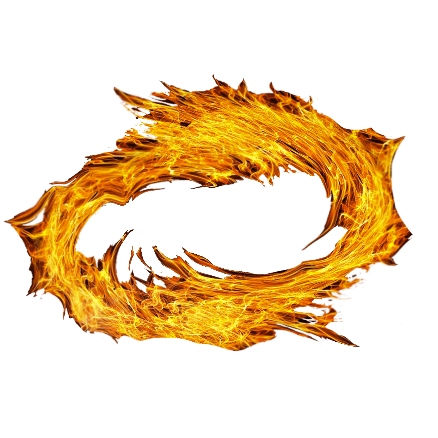 Spiral of fire transparent. Clipart flames square