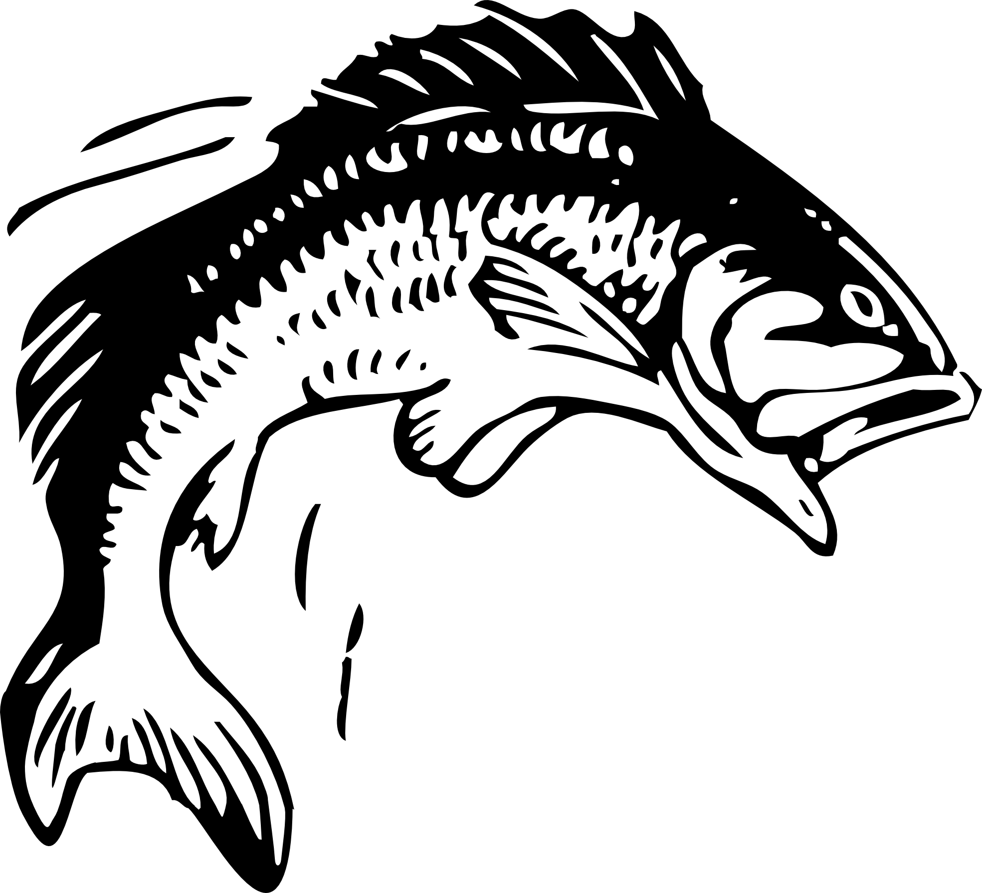 Tuna clipart drawn. Fish line art best