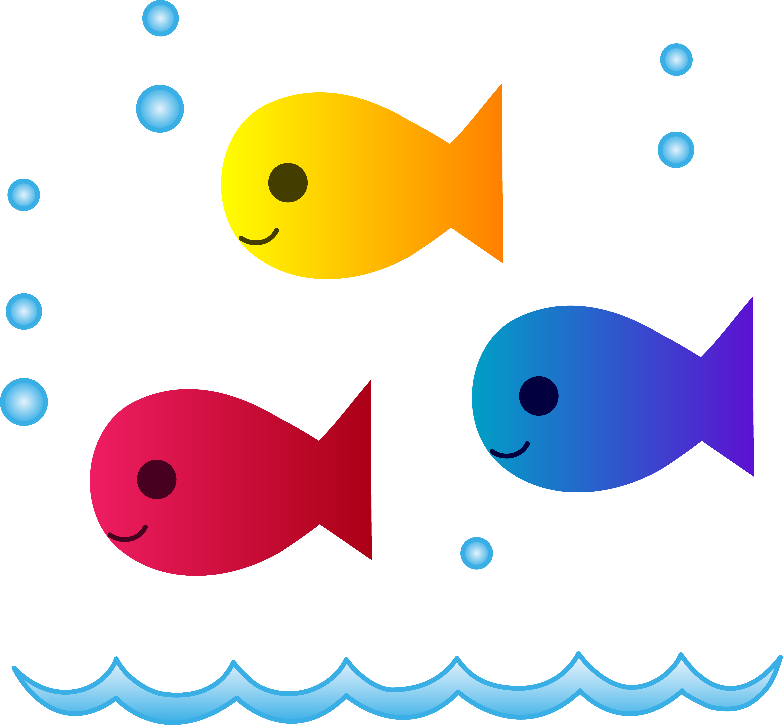 Fishing clipart watercolor. Simple fish clip art