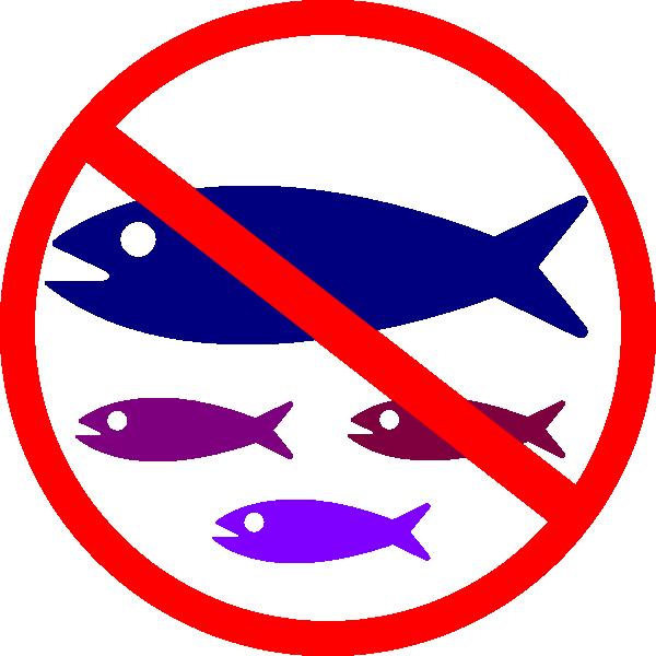 Circle clipart fish. No fishing sign clip