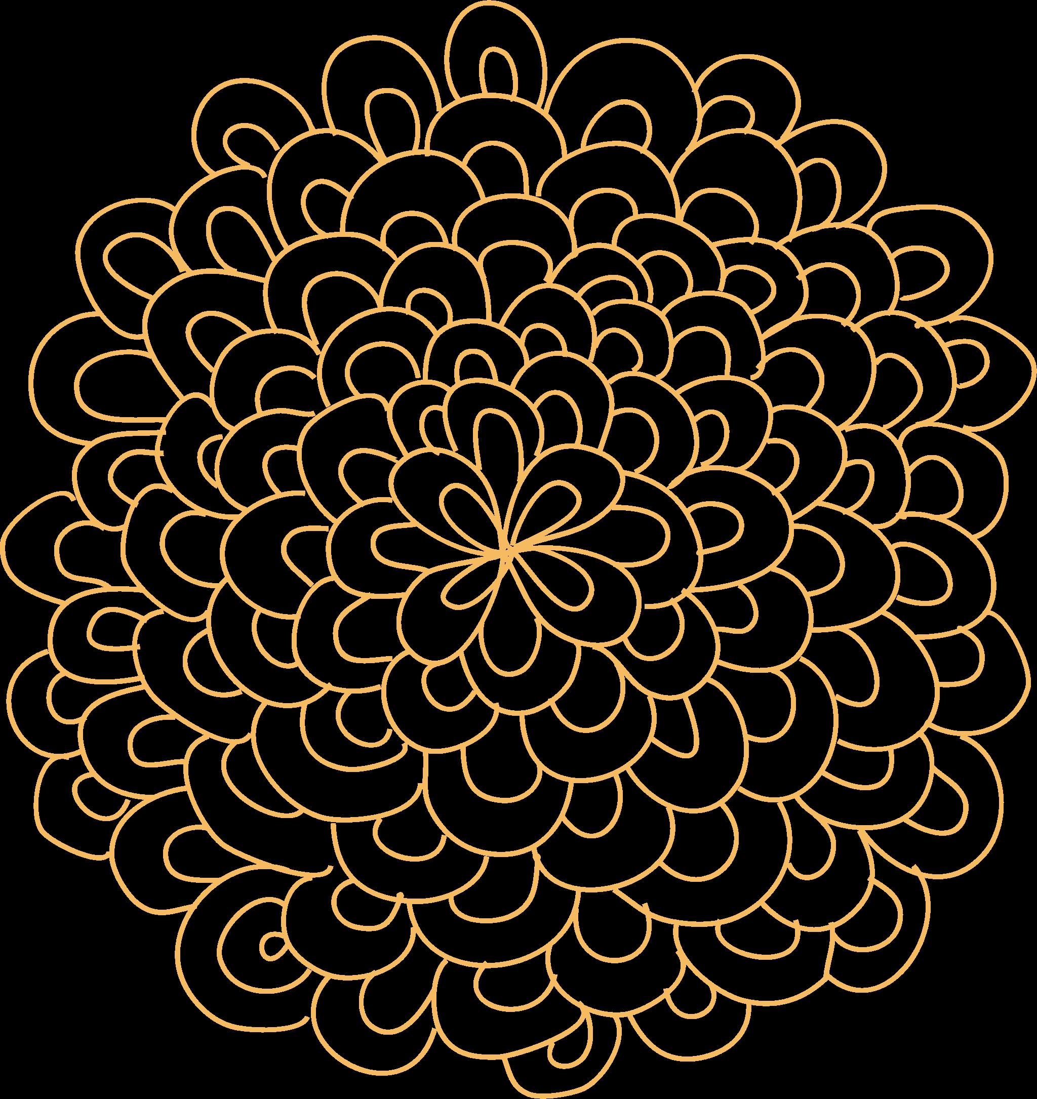 Rosette flower big image. Circle clipart floral