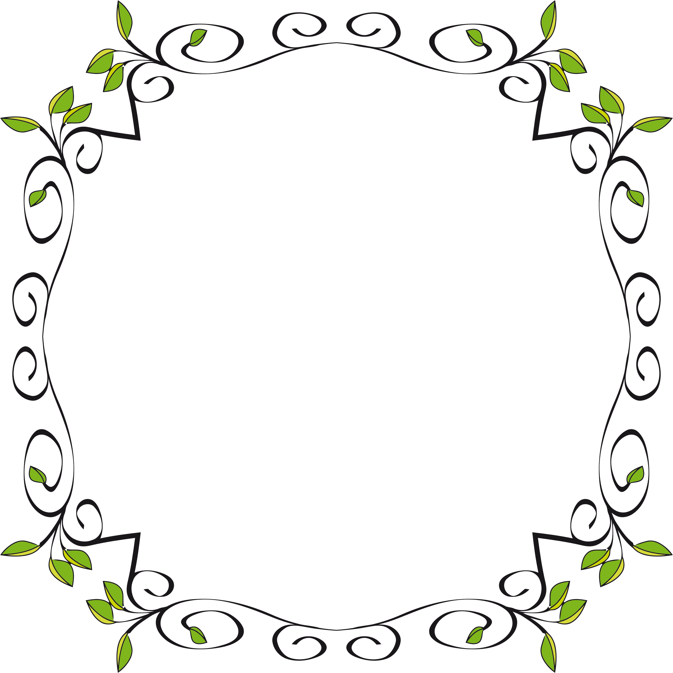 Border extended big image. Circle clipart floral
