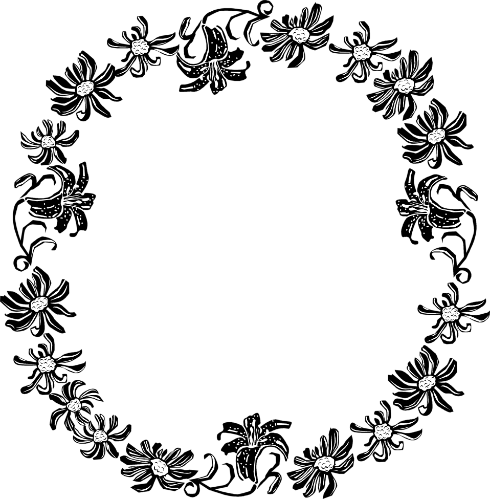 Circle Clipart Floral Circle Floral Transparent Free For Download